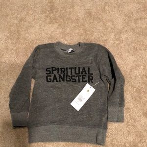Spiritual gangster child varsity crew neck fleece